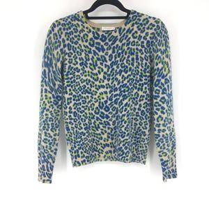 Equipment Femme Cashmere Cheetah Sweater Size M